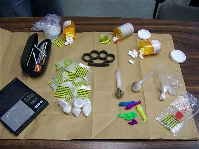 Drug bust evidence