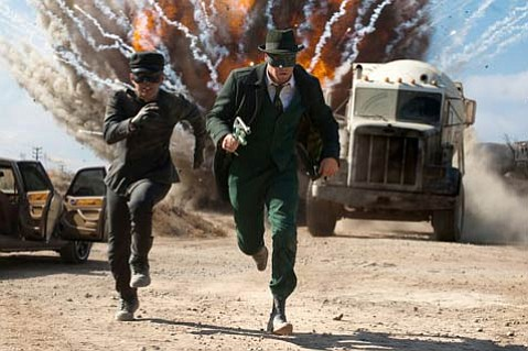 <strong>WILD RIDE:</strong>  Seth Rogen (right) and Jay Chou play a crime-fighting duo with an arsenal of hi-tech gizmos at their disposal in this weird and funny revamp of <em>The Green Hornet</em>.