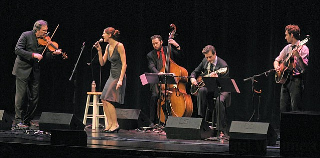 Violinist and band leader Mark O'Connor delivered two rousing and accessible sets of music during Friday night's Hot Swing show at the Lobero.