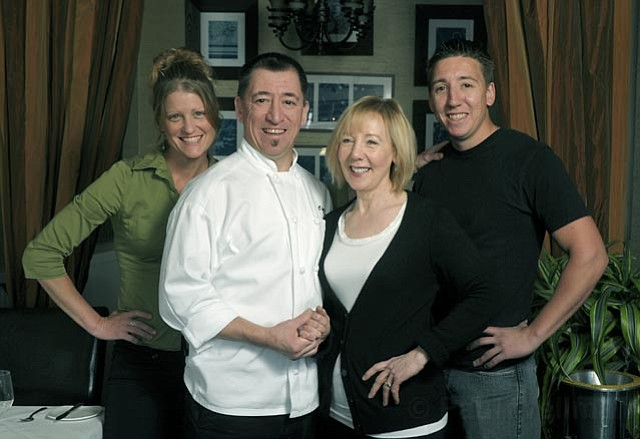 <strong>SIERRAS TO THE SEA:</strong>  After running the successful Citronee Bistro in Nevada City for 13 years, the Perez family—(from left) Erin Gailsdaughter, Robert Perez, Marianna Perez, and Ruben Perez—have taken over beloved Seagrass in Santa Barbara.