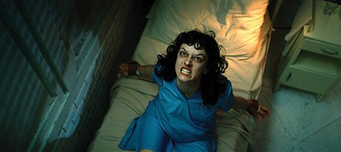 <strong>AARRRGGHH:</strong>  Maria Gastini having a moment in <em>The Rite</em>, which also stars Anthony Hopkins as an exorcist and Colin O'Donoghue as his tutee.