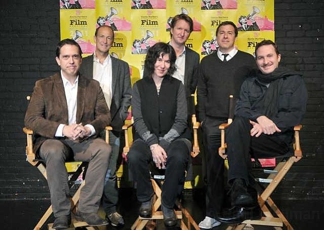 2011 SBIFF Directors Panel at the Lobero Theatre L to R Lee Unkrich (Toy Story 3), Charles Ferguson (Inside Job), Debra Granik (Winter's Bone), Tom Hooper (The King's Speech), David O. Russell (The Fighter), and Darren Aronofsky (Black Swan)