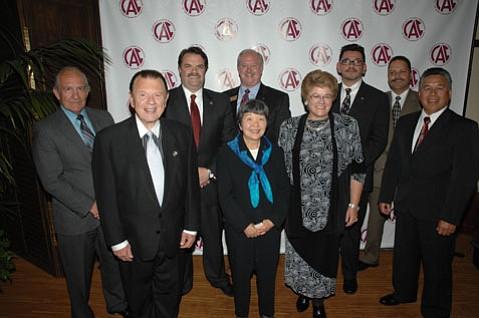 Past Champions (Left to right: Joe Centeno, Dennis Shepard, Bill Brown, Michael Bennett (back), Flo Furuike (front), Susan Warnstrom, Art Garcia, Lupe Alvarez, Ariston Julian.