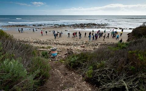 Gaviota Conservancy beach walk.
