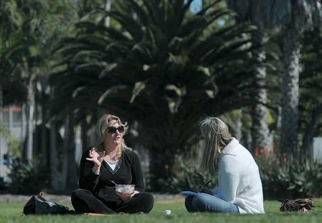 Sharon Byrne (left) and Isabelle Walker