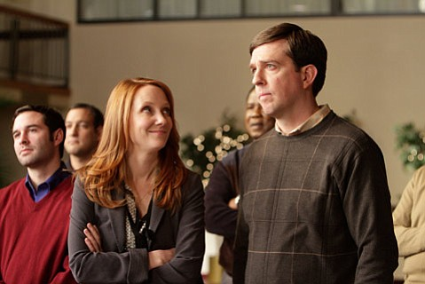 <strong>SIN CITY, IOWA:</strong>  Ed Helms (right) plays an insurance salesman who finds himself out of his element when he is sent to Iowa to represent his company at a debauched convention in <em>Cedar Rapids</em>.
