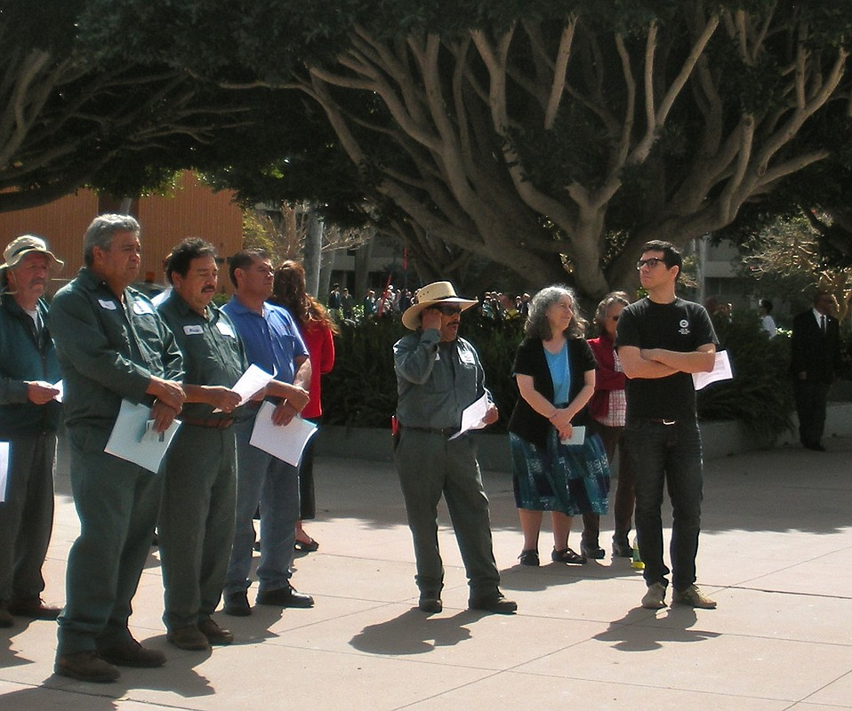 UCSB Service Workers spent their lunch break at AFSCME's gathering Wednesday