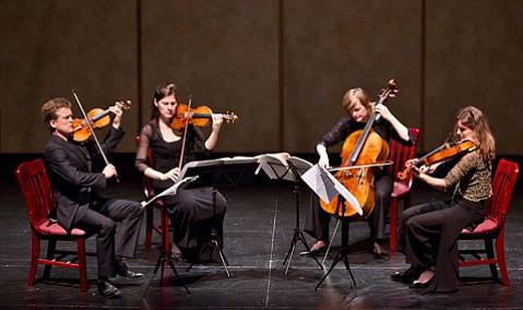 Tetzlaff String Quartet at the Lobero Theatre.