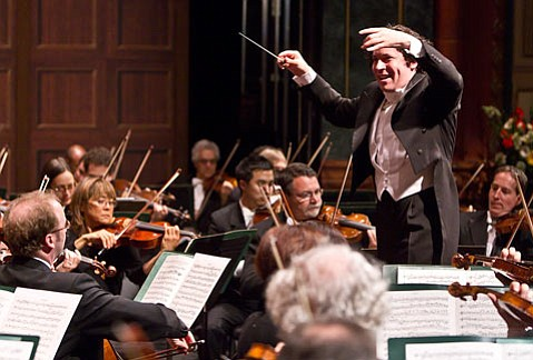 Gustavo Dudamel conducted a Promethean version of Brahms' <em>Symphony No. 1</em> on Saturday at The Granada.