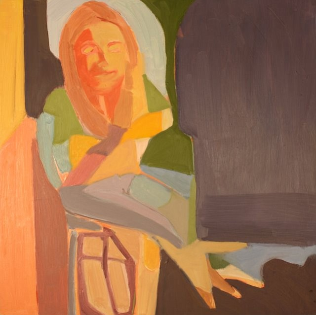 """Rebecca"" by Jess Riegel.  Oil on wood panel.  2x2ft.  2011"