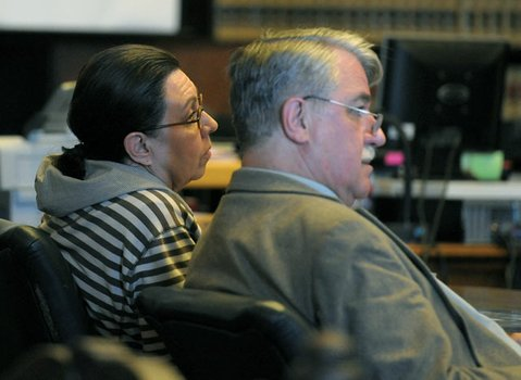 Denise D'Sant Angelo and defense attorney Joe Allen