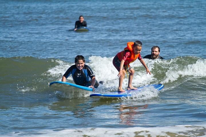 Students from Stony River, Alaska visit Santa Barbara, California