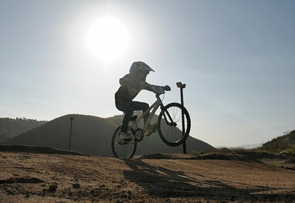 Tristen Blackburn on the Ellings park BMX track May 19, 2011