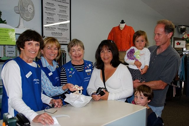 Volunteers and customers in the Assistance League of Santa Barbara's Assistance Shop
