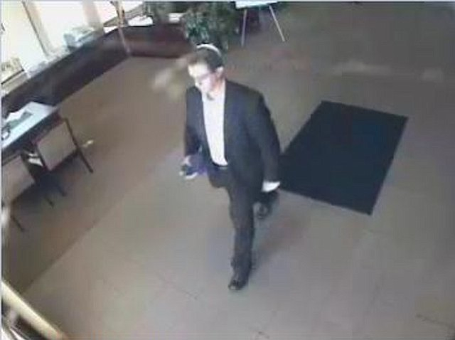 Suspect Raymond Davenport in the Goleta bank