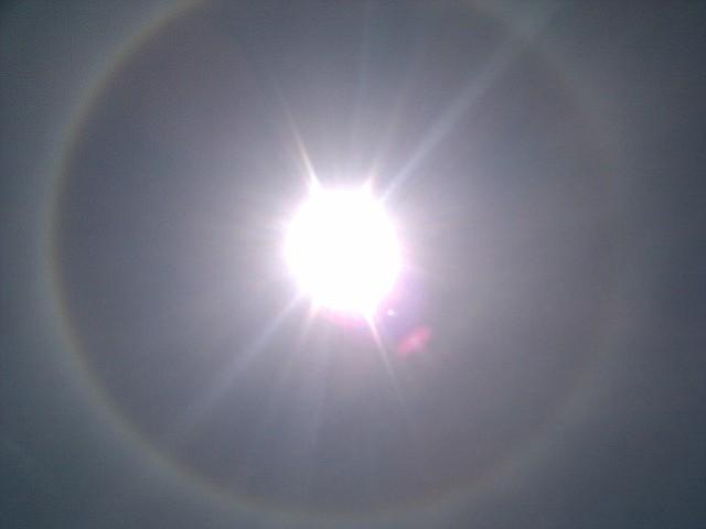 Sun halo above Santa Barbara