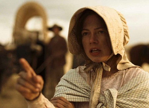 <strong>GOIN' OUT WEST:</strong>  Michelle Williams plays one of the settlers led astray on the way West in the subtle and sparse frontier saga <em>Meek's Cutoff</em>.