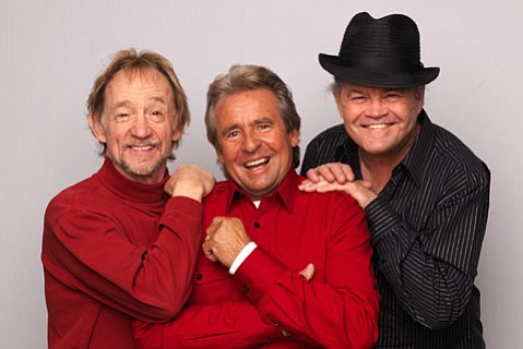 The Monkees (from left: Peter Tork, Davy Jones, and Micky Dolenz) take to the stage at the Chumash Casino Resort this Thursday, July 14.