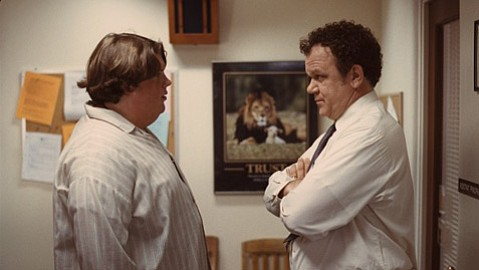 <strong>NOT ANOTHER TEEN MOVIE:</strong>  Jacob Wysocki (left) plays a high school loner taken under the wing of his assistant principal (John C. Reilly) in the off-beat and unique indie comedy Terri.