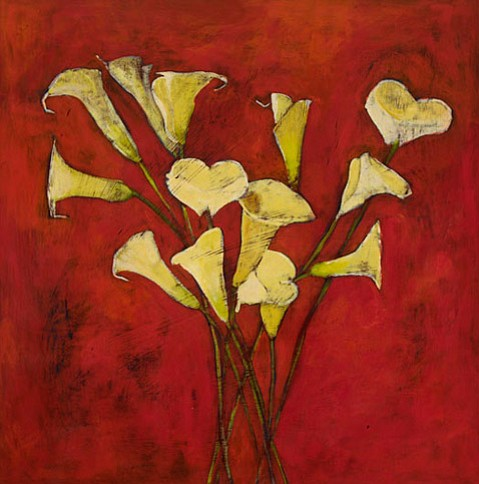 """calla lillies 1"" by Donna Ayscough"