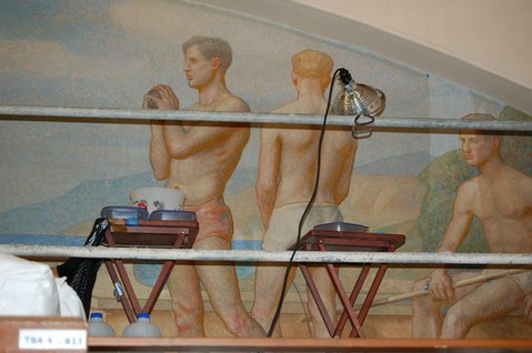 Douglass Parshall mural restoration