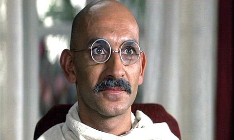 Ben Kingsley stars in <em>Gandhi</em>, a biographical film about the life of Mahatma Gandhi