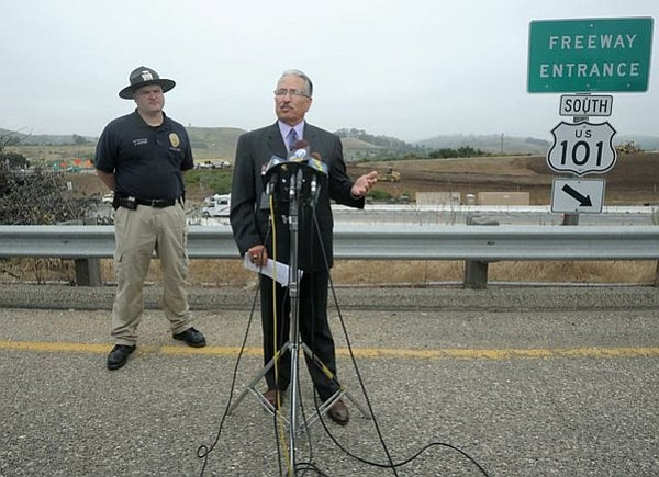Santa Barbara Police Chief Cam Sanchez addresses the media during the Ramona Price press conference