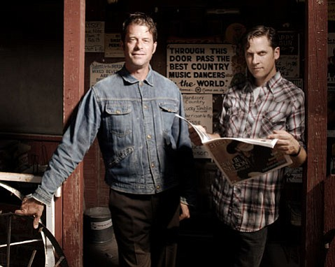 Tuscon duo Calexico (from left: John Convertino and Joey Burns) brings its mix of Spanish-infused alt-country to the Lobero stage this Friday.