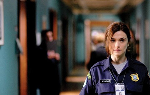 <strong>REAL AND PRESENT EVIL:</strong>  Rachel Weisz stars as a Midwestern police officer who uncovers a Bosnian sex-trafficking ring while working for the UN in <em>The Whistleblower</em>.