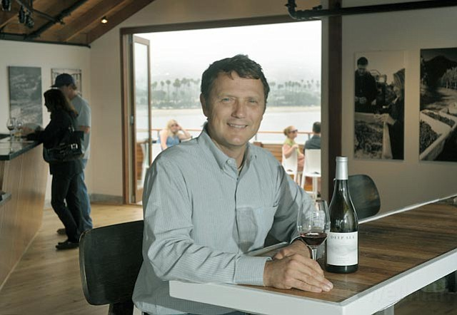 Deep Sea Wines, owned by Gareth Conway (pictured) and his family, are now pouring on Stearns Wharf.