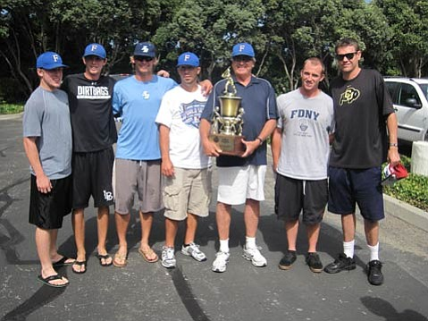 The S.B. Foresters, led by manager Bill Pintard (pictured with trophy), won their third national championship last Saturday in the 77th National Baseball Congress World Series.