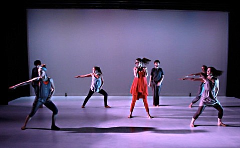 Movement phrases with recurring motifs served to unify the production of Proximity Theatre Company's <em>Shandy Wilkes</em>.