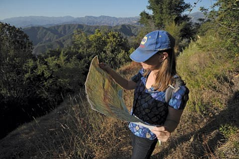 <strong>MAPS ARE GOOD:</strong>  One reason that Martha Sadler got so lost is that she forgot to travel with a trusted map of the Los Padres wilderness. She won't forget it again.