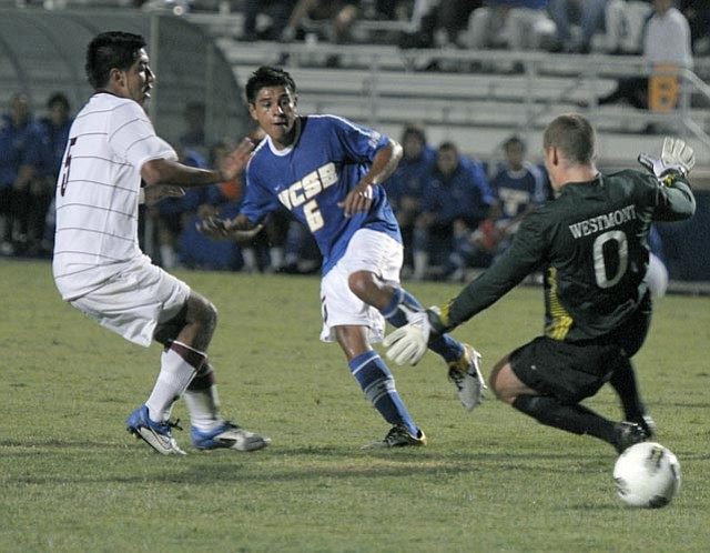 Santa Barbara native Christian Vazques made his debut for the Gauchos after transferring from UCLA.
