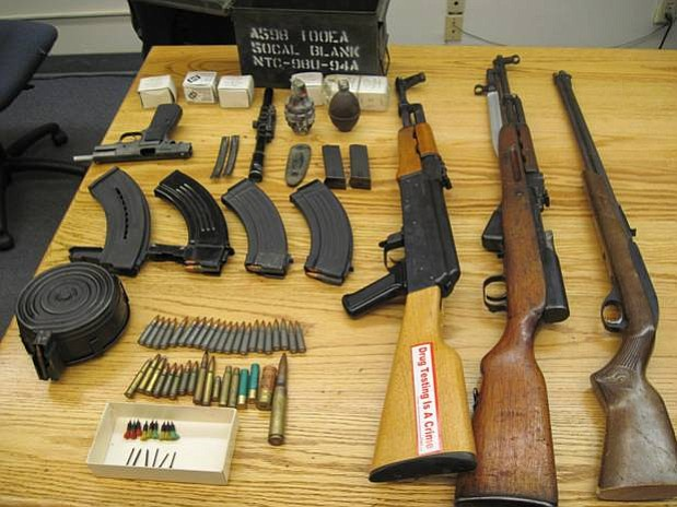 Weapons seized in Carpinteria