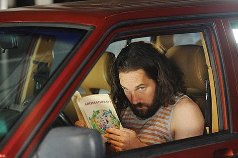 <strong>BUMBLIN' BRO:</strong>  An out-of-jail pot dealer (Paul Rudd) barges in on the lives of his three sisters in the subtle and goofy comedy <em>Our Idiot Brother</em>.