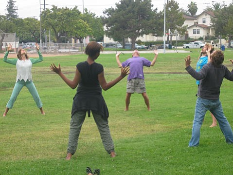 Qigong with Katie Mickey in Ortega Park.