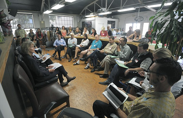 Roundtable discussion of potential economic impacts on outdoor recreation companies