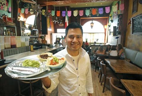 El Taco's bartender Cesar Hernandez.