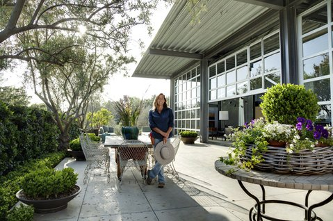 """Deborah Shaw, owner of Deborah Shaw Restoration & Landscape, describes the landscape of the Ladera Lane residence as """"a unique example of California native plants in a contemporary landscape design."""" Shaw, along with a team of individuals who worked together to design and build the home, will be honored at the 47th Annual Santa Barbara Beautiful Awards event."""
