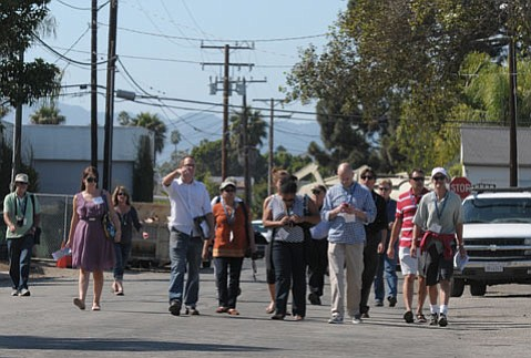 Members of the Central Coast Section of the American Planning Association, in town for the California Chapter's Annual Conference, toured Santa Barbara's Funk Zone.