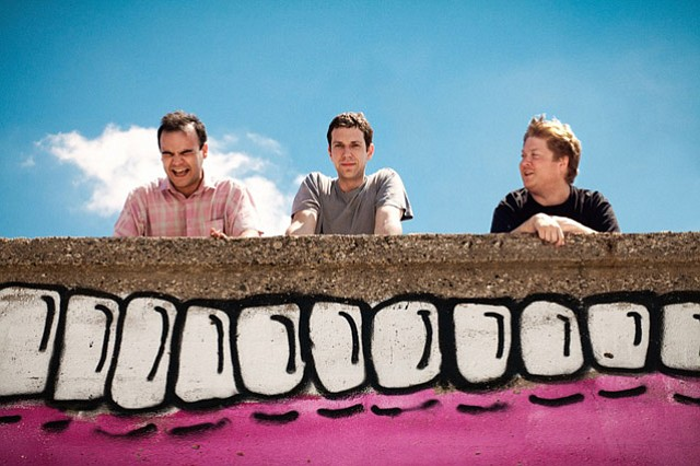 Future Islands are (from left) Samuel T. Herring, Gerrit Welmers, and William Cashion.