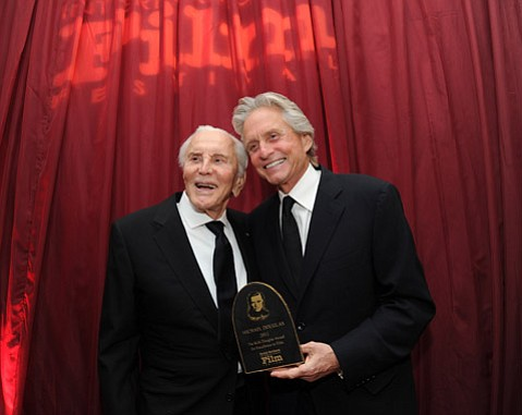 Kirk Douglas and Micheal Douglas