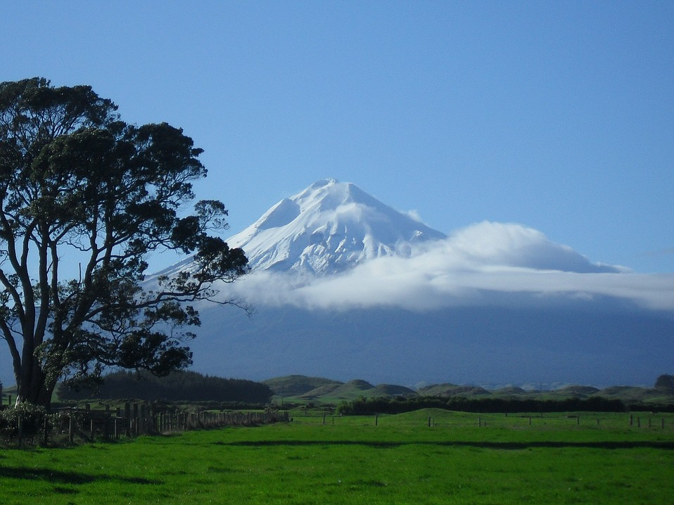 Mt. Taranaki in New Zealand