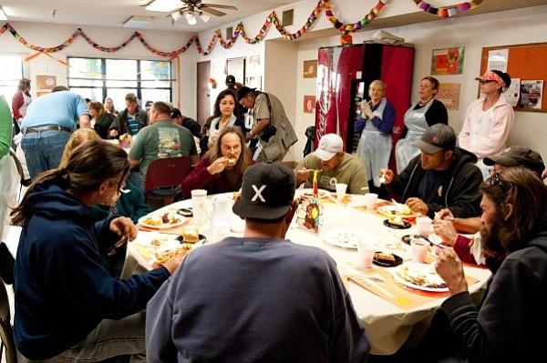 Santa Barbara Rescue Mission, Thanksgiving dinner 2010.