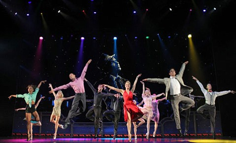 Ballroom dancing, live big-band music, and the voice of Frank Sinatra combine onstage on Monday.