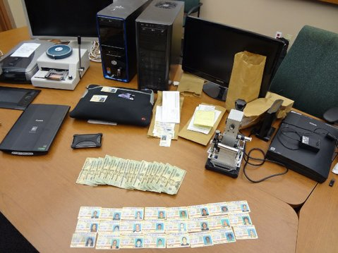Evidence seized during fake ID bust