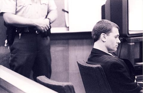 Ben Greenspon in an early court appearance. What started as petty theft and forgery grew to a spree of bank robberies that eventually landed him a life sentence in 2000.