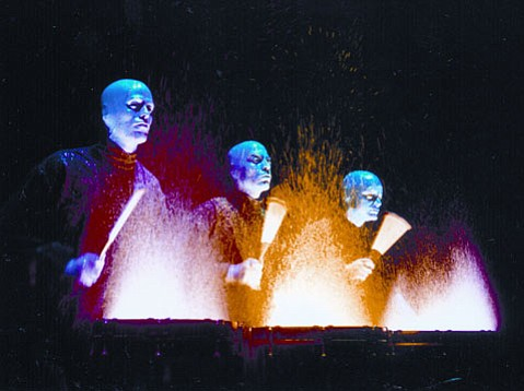 Theatrical sensations Blue Man Group brought their unique mix of percussion, special effects, comedy, and techno-futurism to the Granada on Monday, November 21.
