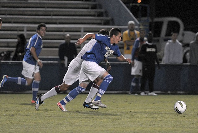 UCSB (pictured at Harder Stadium) lost 2-1 to the Creighton Bluejays in last Sunday's NCAA match in Omaha, Nebraska.